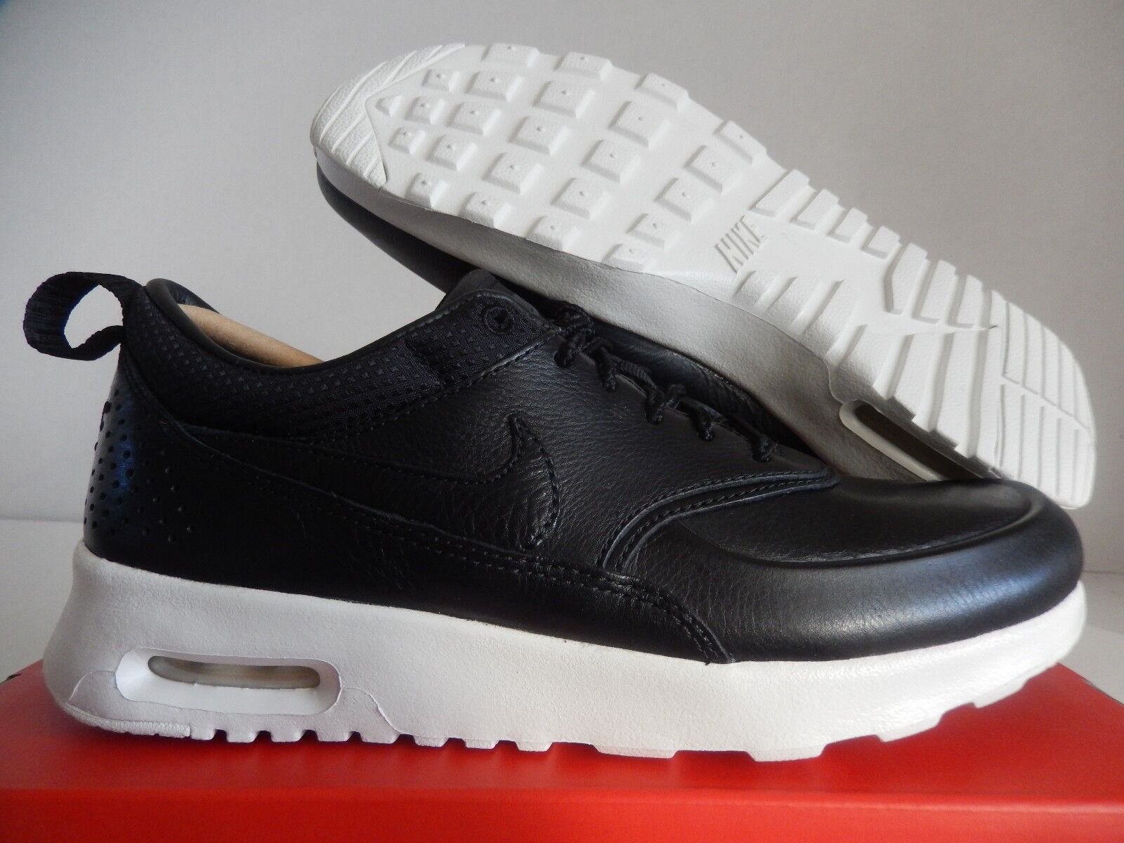 WMNS NIKE AIR MAX THEA PINNACLE BLACK-SAIL SZ 6.5 LEATHER    [839611-002]
