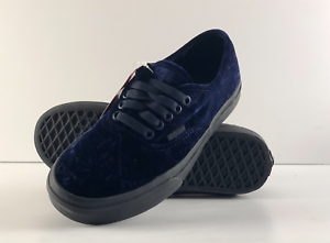 Image is loading VANS-Velvet-Authentic-Sneakers-Navy-Black-VN0A38EMNQ8 554868e32