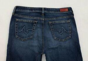 AG-Adriano-Goldschmied-The-Elite-Dark-Wash-Bootcut-Blue-Jeans-Womens-28R-29-x-31