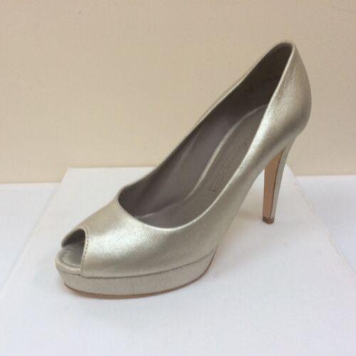 Gold 8 Peep eu Bnwb Courts £169 K Rrp Uk 41 Gia amp;s Leather Toe Platform qzwFpnER
