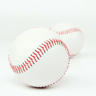 Standard 9 inch Blank White PU Training Baseball Softball Practice Team Sports Game Base Ball with Red Stitching