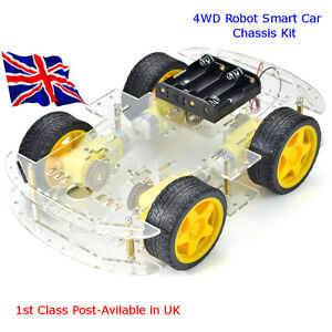 4WD Robot Smart Car Chassis Kits with Speed Encoder for Arduino Raspberry Pi - Chard, Somerset, United Kingdom - 4WD Robot Smart Car Chassis Kits with Speed Encoder for Arduino Raspberry Pi - Chard, Somerset, United Kingdom