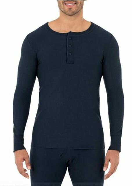 Dickies Mens Midweight Performance Waffle Henley Top