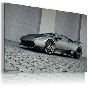 LAMBORGHINI-MURCIELAGO-GRAPHITE-Sports-Car-Large-Wall-Art-Canvas-Picture-AU469-X