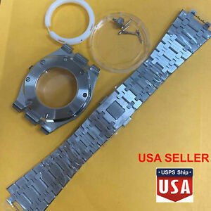 41mm Stainless Steel Watch Case Wrist Strap Band for NH35/NH36/4R36 Movement USA