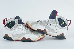 check out 5fdd0 58d6b Details about 2004 Air Jordan 7 (VII) Retro Olympic White / Metallic  Gold-Midnight Navy-True R