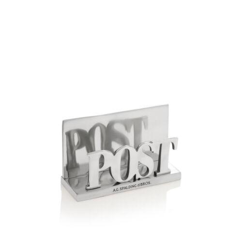AG Spalding /& Bros Porta lettere in alluminio con scritta Post 862781U828