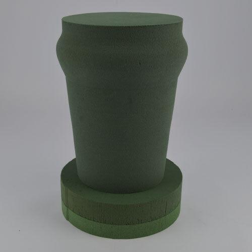PINT GLASS  3D FLORAL FOAM  FUNERAL TRIBUTE FLORISRTY OASIS TYPE SKU 4012