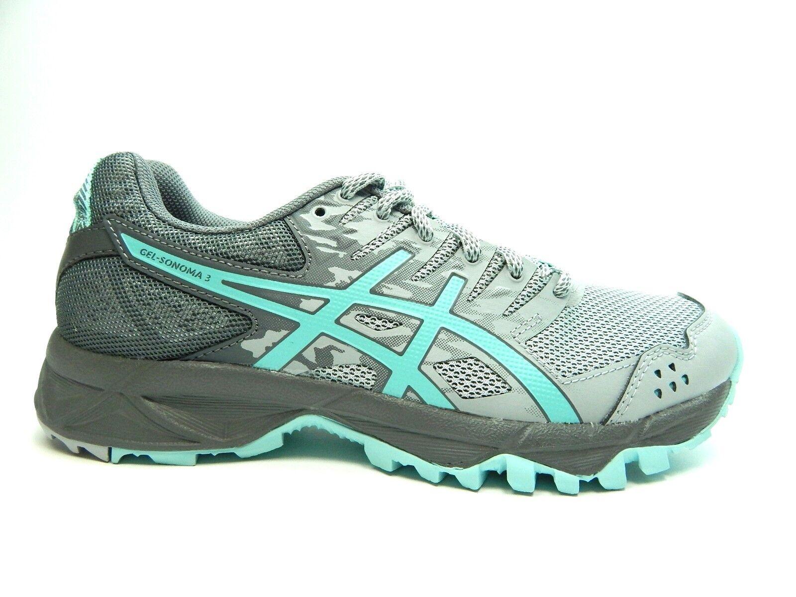 ASICS GEL SONOMA 3 T774N 9667 MIDGREY AQUA Running Women Shoes SIZE 6.0-7.0 Comfortable and good-looking
