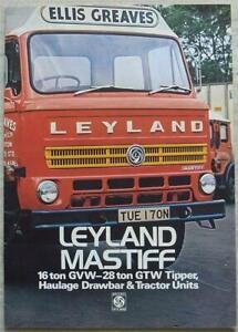 LEYLAND MASTIFF RANGE Commercial Vehicles Sales Brochure Oct 1975 #1251