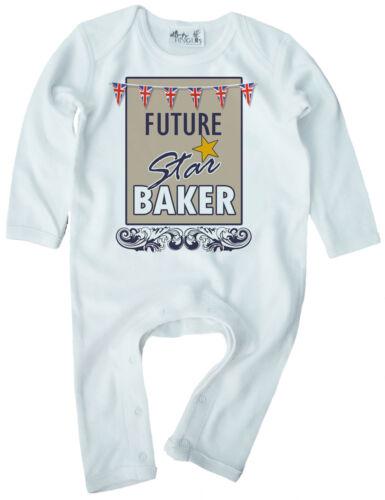 "Baking Baby Romper /""Future Star Baker/"" British Bake Off Boy Girl Funny Gift"