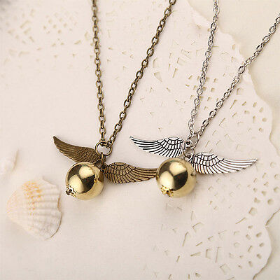 Golden Snitch Pendant Fashion Jewelry for Harry Potter Necklace Chain 2 Colors
