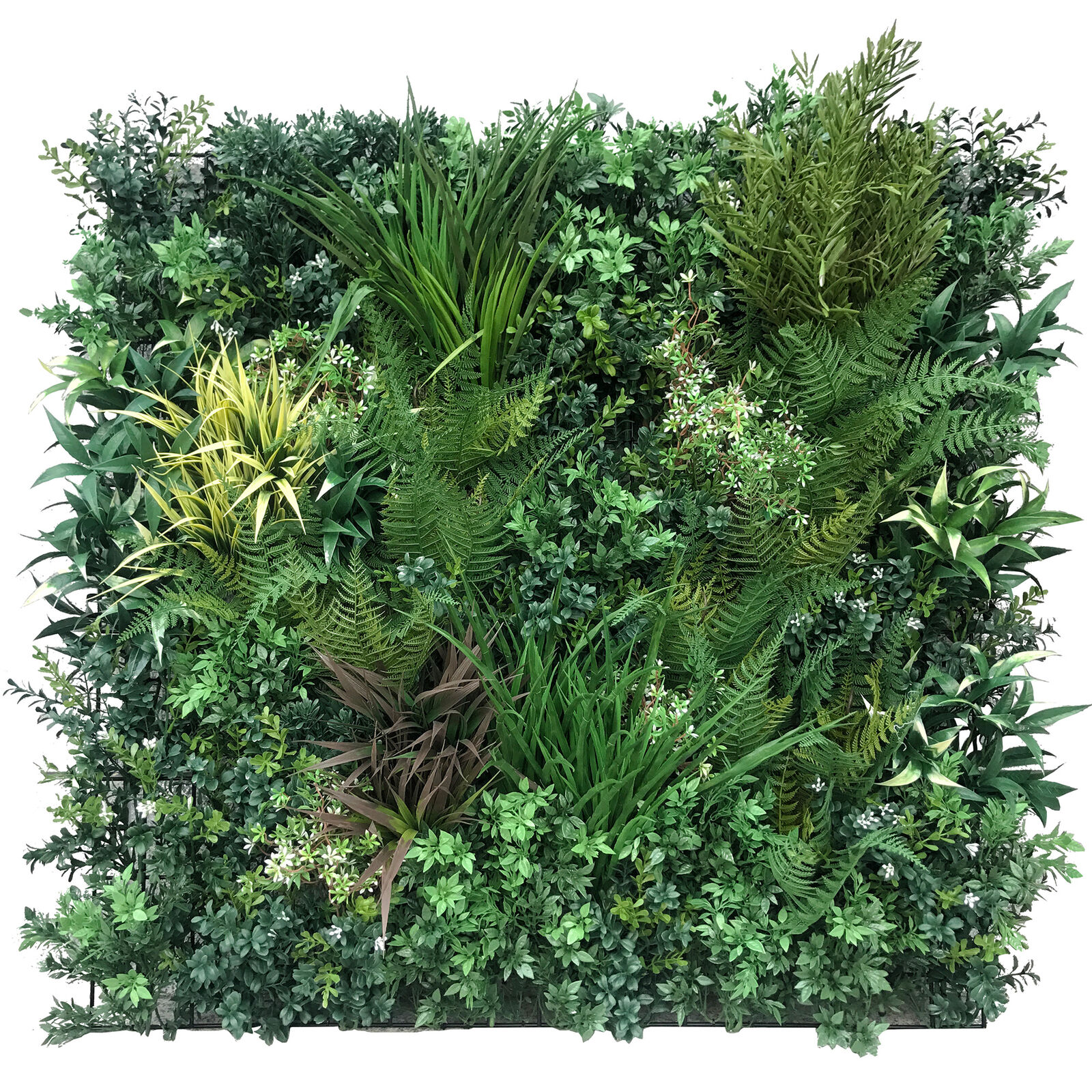 36 x36  IFR UV-Proof Outdoor Artificial Assorted Autumn Grünery Living Wall Mat