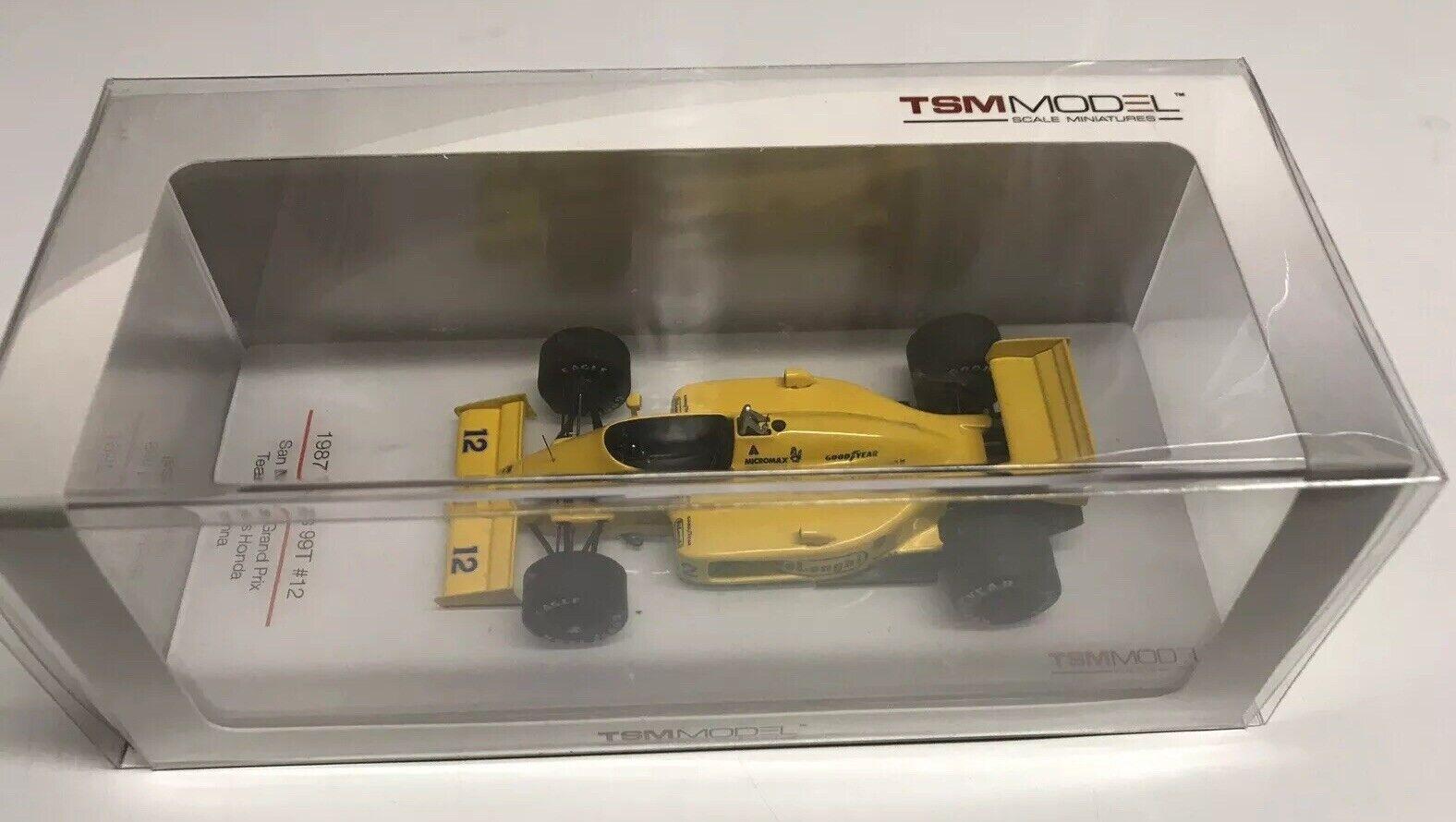 autentico en linea True True True Scale TSM Ayrton Senna 1987  12 Lotus Honda 99T San Marino Grand Prix 1 43 Nuevo en Caja   para proporcionarle una compra en línea agradable