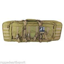 "TAN 36"" Double Carbine Rifle Colt Bushmaster Sig Gun Case MOLLE Backpack Vism"
