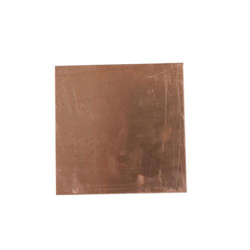 Heißer Verkauf 99,9/% Reines Kupfer Cu Blech Platte 100x100x0,8mm  G3D