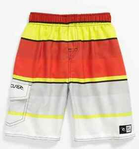 19f72e6f24 Rip Curl Boys Youth Small Red Yellow Swim Surf Volleyball ...