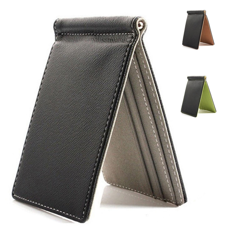 3X(Kunstleder Slim Herren Kreditkarten Brieftasche Geldscheinklammer VertraE9U2)