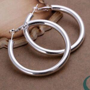 ASAMO-Damen-Ohrringe-Creolen-Sterling-Silber-plattiert-Schmuck-Ohrschmuck-O1149