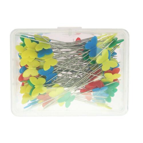 100 Stücke Schmetterling Flachkopf Nähen Pins 52mm Lange Quilten