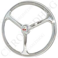 Chrome Red Eye Skull - Tri-bar 7 Headlight Cover For Harley Head Light Lamp