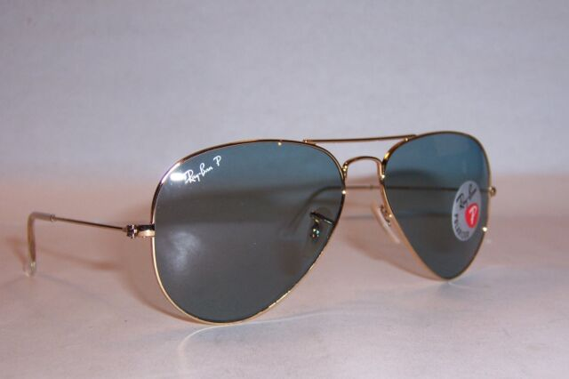 6f23f267c89 NEW RAY BAN AVIATOR Sunglasses 3025 001 3R GOLD BLUE 58MM POLARIZED  AUTHENTIC