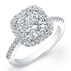 2-73ct-Cushion-Diamond-Engagement-Ring-14k-White-Gold