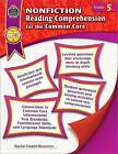 Nonfiction Reading Comprehension for the Common Core, Grade 5 by Heather Wolpert-Gawron (Paperback / softback, 2014)