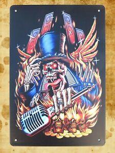 skull evil tin metal sign bedroom decorating ideas | eBay