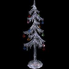 Alto delgado 35cm efecto hielo LIGHT UP LED Cambio De Color Árbol De Navidad Ornamento