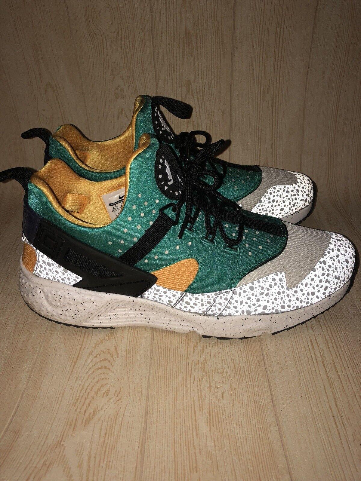 Nike Air Hurache Utility Premium Mens shoes Sz 9.5 Reflective Safari Green