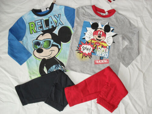 BNWT 1 pair disney Mickey mouse pyjamas.2-3,3-4,5-6 or 7-8yrs.