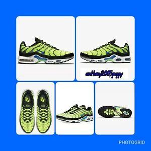 100% Vrai Nike Air Max Tn Plus | Uk 8 Eu 42.5 852630-700 Volt/noir/gris/photo Bleu-y/photo Bluefr-fr Afficher Le Titre D'origine La Consommation RéGulièRe De Thé AméLiore Votre Santé