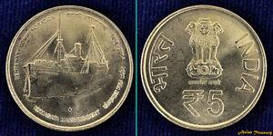 "INDIA 5 RUPEES /""125th Birth Ann of Jawaharlal Nehru/"" 2014 COIN UNC"