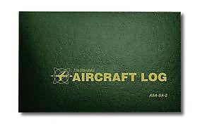 Logbook ASA-SA-1 ASA Aircraft Log - 1900s Block Green, Softcover, 94 Pages