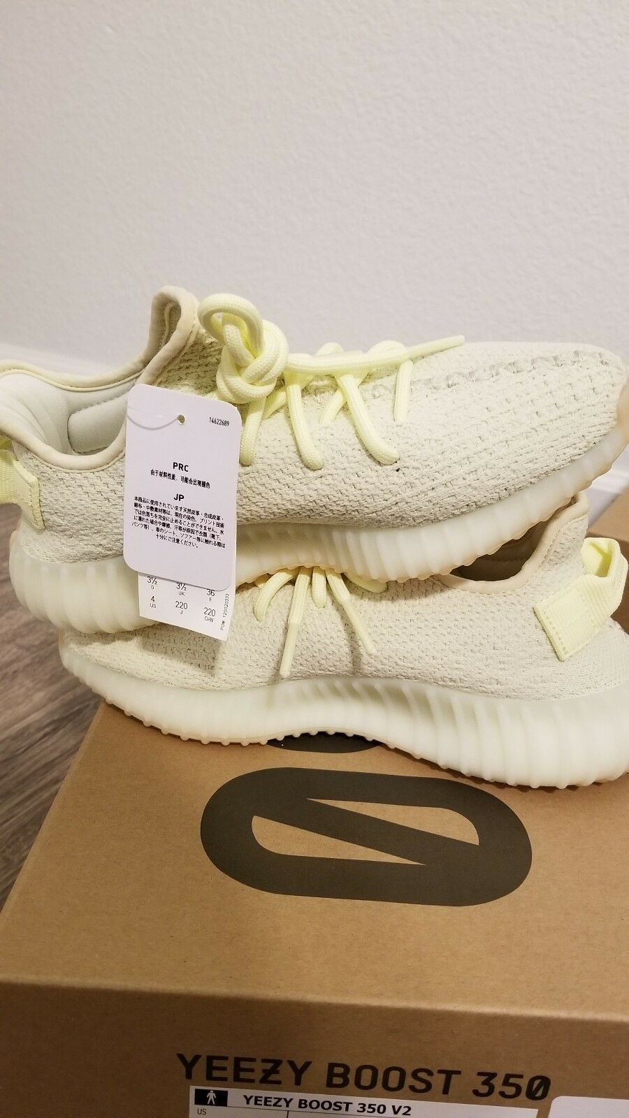 Size 4 Uomo Adidas Yeezy Boost 350 V2 Yellow Butter F36980 KANYE WEST