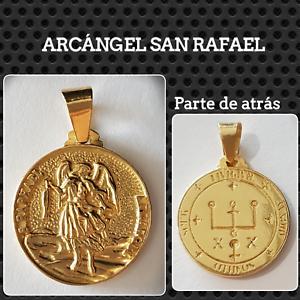 8e198e3eafd Image is loading San-rafael-archangel-pendant-silver-gold-plated-silver-
