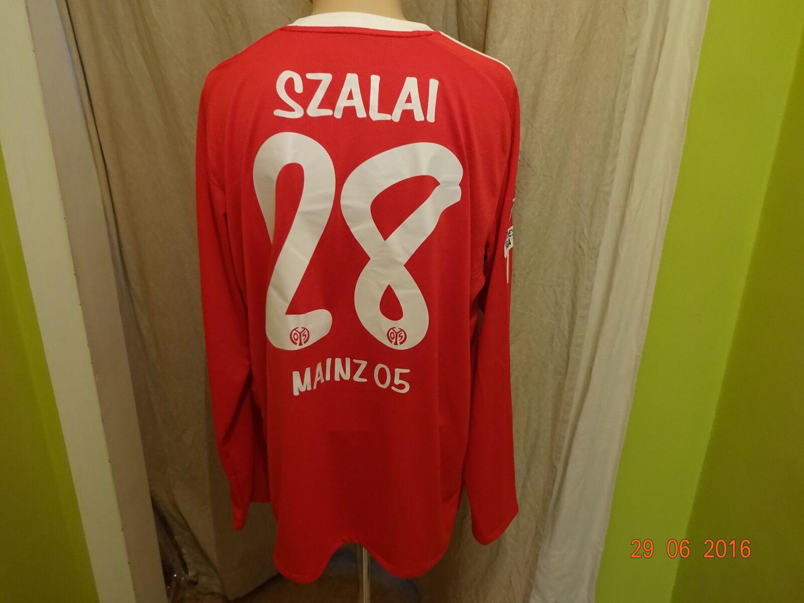 FSV Mainz 05 Nike Langarm Spieler Matchworn Trikot 2010 2010 2010 11 + Nr.28 Szalai Gr.XL 943823