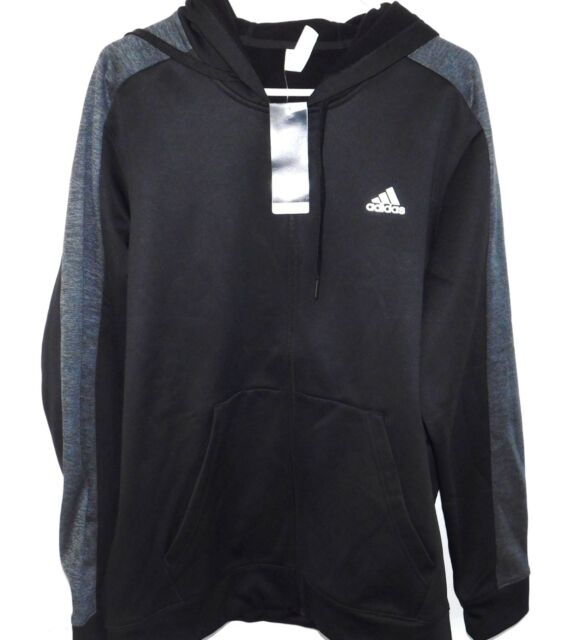 Adidas Mens Tech Performance Climawarm Long Sleeve Fleece Hooded Full Zip Jacket