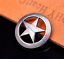 "1/"" Nickle Western Texas Star Leathercraft Belt Conchos Button SCREW BACK 10PC"