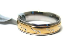 Hypoallergenic Ring Gold PVD 316L Surgical Steel 6 mm Size 10.5