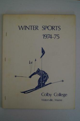 Vintage Basketball Media Presse Guide Colby College 1974 1975