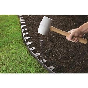 Landscape Edging Kit Garden Flexible 100 FT Lawn Border Flower Bed Paver No  Dig