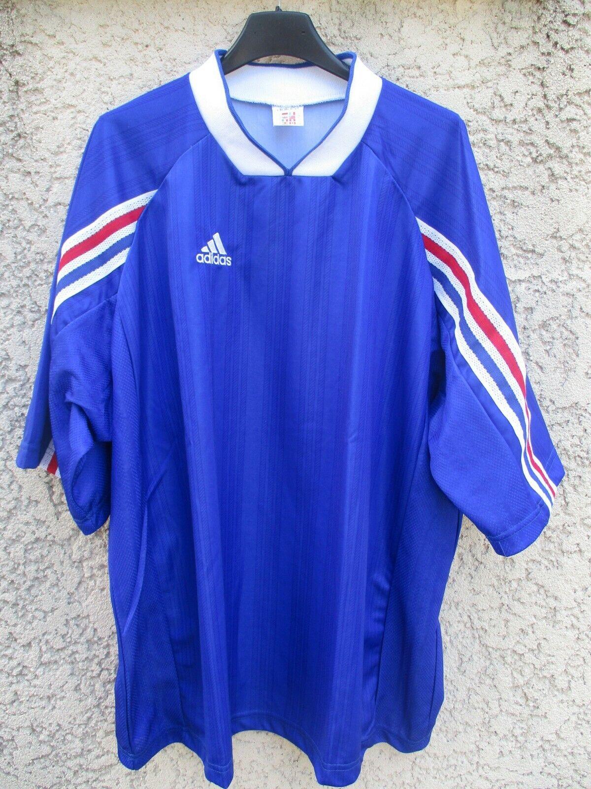 Maillot Equipe de FRANCE années 90 ADIDAS vintage shirt jersey trikot XL