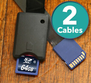 x2-TWO-SD-card-to-SD-Card-Extension-Extender-Cables-SDHC-Cable