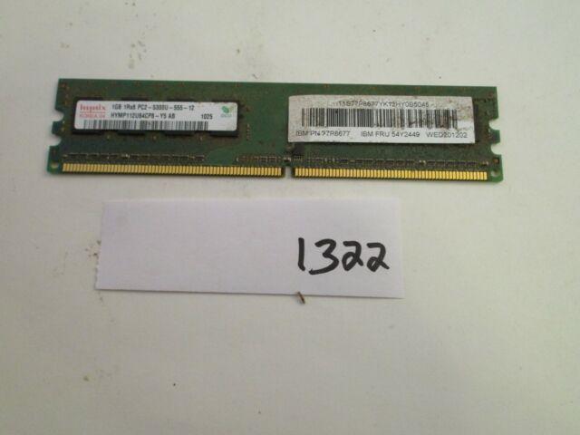 Hynix HYMP112U64CP8-Y5 1Gb PC2-5300 667Mhz DDR2 Desktop Memory RAM (1322)