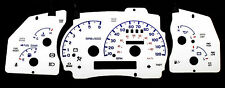 120MPH Indiglo White Face Euro Reverse Blue Glow Gauge New For 98-01 Ford Ranger