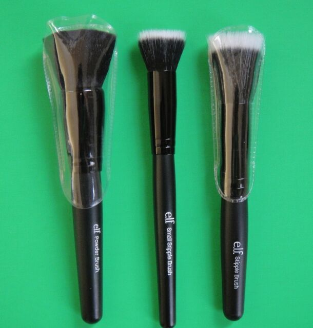 e.l.f. Studio Wet Dry Flat Face Brush Foundation Concealer Powder Stipple ELF