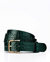 Brand New Ann Taylor Exotic Leather Belt Color Green