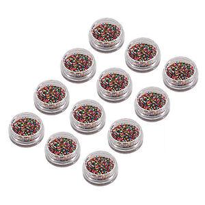 12 color nail art glitter studs sequin discs dots for nail art image is loading 12 color nail art glitter studs sequin discs prinsesfo Image collections